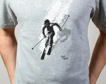 Ski Men's Skiing T Shirt