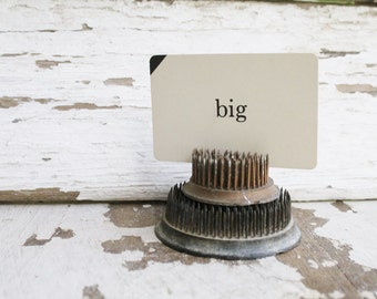 Vintage Word Flash Card Farmhouse Country Shabby Chic Decor Game BIG