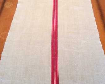 "Vintage European Grain Sack Runner 86"" x 20 3/4"""