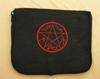 Supernatural TV Show Devils Trap Bag, Sam and Dean Gift, Crowley Gift, Supernatural Fan, Castiel Winchester Bros Bag Merch