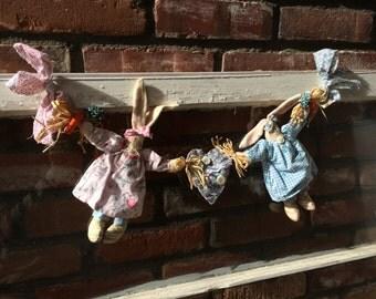 Easter Bunny Garland (Pink & Blue)