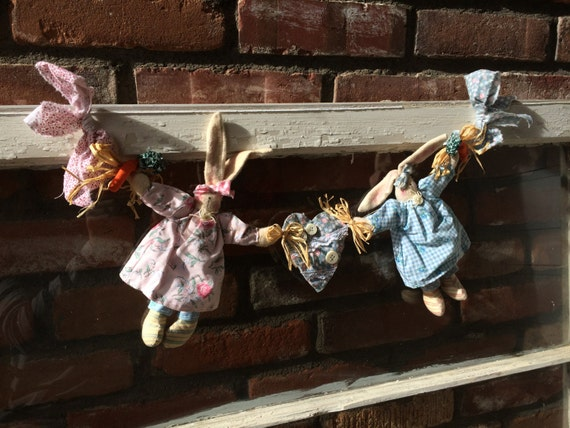 Easter Bunny Garland (Pink & Blue)