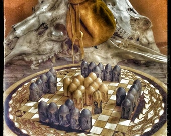 Hnefatafl Board Game, The Kings Table, Viking Tafl, Viking Chess, Tablut, Vikings, Hand Carved, Ragnar's Board Game, Neffatoffle