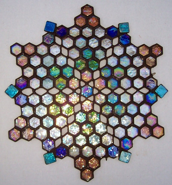 Stained Glass Mandala, Yantra, Meditation, Buddist, Hindu, Star of David, Spirituality