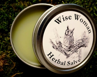 Wise Woman Herbal Healing Salve 1 oz.  Natural Healing Balm, Herbal Healing Salve, Organic Healing Balm, Centuries Old Recipe