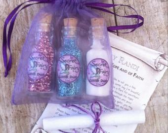 "Secret Fairy Glitter Dust Keepsake Gift Set (Or singles bottles) - ""Randi"" the Fairy of Hope & Beauty - Exclusively at Boondocks West"