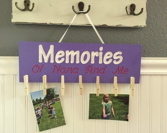 Memories of Nana and Me Photo Plaque