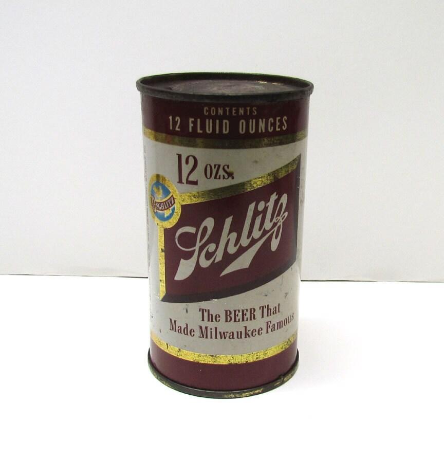 Vintage Schlitz Beer Can Home Decor By Vintageandmoreshop