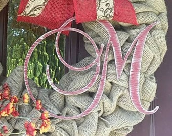 """Wooden Monogram Letter - Large or Small, Unfinished, Cursive Wooden Letter - Perfect for Crafts, DIY, Weddings - Sizes 1"""" to 42"""""""