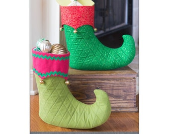 """Pattern """"Elf Loot Boot"""" by Indygo Junction (IJ1156CR) Paper Pattern Holiday Craft"""