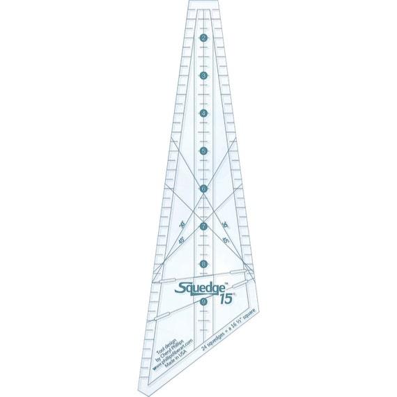 Template 15 Degree Squedge By Phillips Fiber Art Sq15