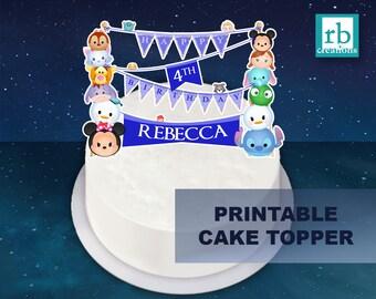Printable Cake Topper File, Tsum Tsum Party, Tsum Tsum Birthday, Tsum Tsum Cake Topper, Minnie Mouse, Disney - Digital Printable