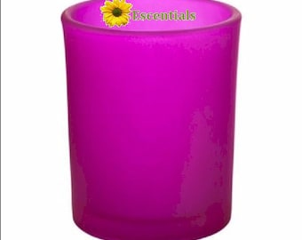Hot Pink Frosted Votive Candle Holder