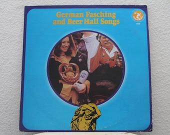 German Fasching And Beer Hall Songs, vinyl record (NT)