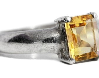 Ring Citrine Silver