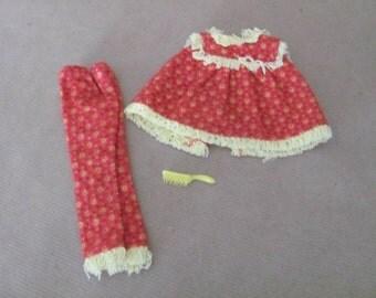 Vintage Skipper Clothes, 1960's Skipper Outfit, Fashion Pak, Wooly PJs, Skipper Pajamas, Vintage Skipper Outfit, Barbie's Sister