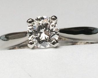 0.52 CT. Round Solitaire Diamond Ring