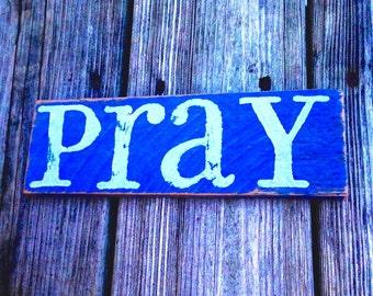 Pray - Navy Blue/Light Gray