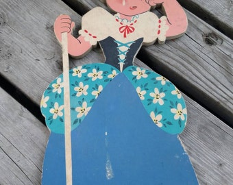 50s Nursery little bo peep wall hanging