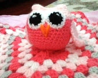 Crochet Owl Baby Lovey