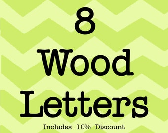Larson Designs 8 Wood Letters with Ribbons with 10% discount