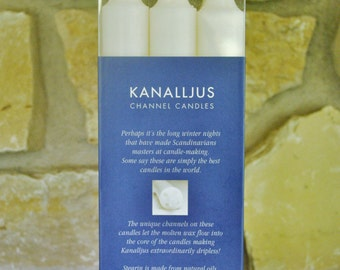 Swedish Kanalljus Dripless Candles Package of 9