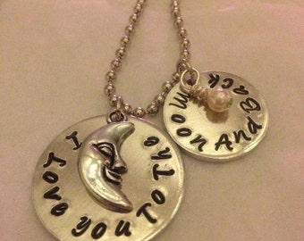 I love you to the moon and back pendant (READY TO Ship)