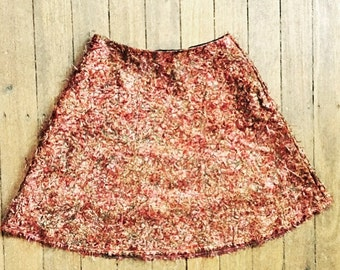 silk hairy skirt