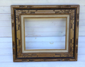 Vintage Frame Gallery Wall {no glass} ornate carved wood textured frame cottage chic home decor
