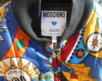 RARE Collector Vintage Moschino Jacket Multicolored Pinball Pattern Medium #sophieladydeparis