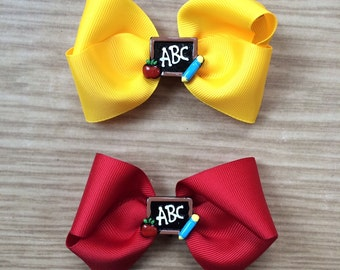 Back-to-School Boutique Bow (Customizable)