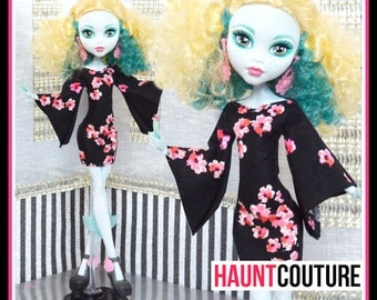 "Monster Doll Haunt Couture: ""Black Dahlia"" mini dress high fashion dress clothes"