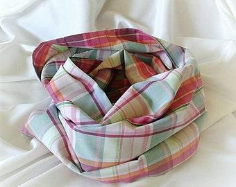 Madras Infinity Scarf. Multicolor Madras Infinity Scarf. Cotton 100%