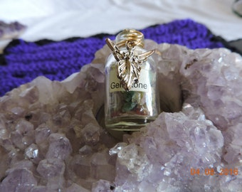 Mixed Gemstone Pendant With Fairy Charm