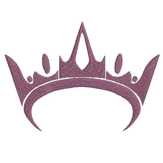 Machine Embroidery Design Instant Download Crown Tiara