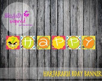 Harjaraku {Inspired} Banner / Printable Custom Banner / Girls Night / Sleepover