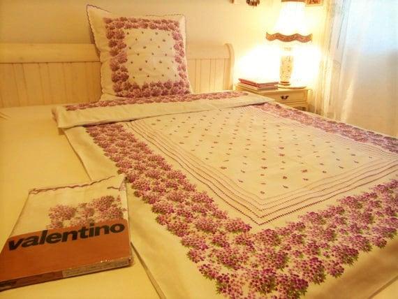 Bettwäsche VALENTINO Design unbenutzt weiß von TimelessGiftsandMore