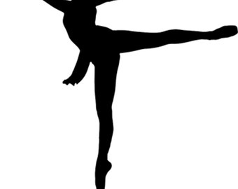 Ballet Dancer Iron on Transfer w/FREE Personalization and FREE SHIPPING