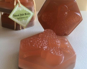 Set Of 2-BEE THERAPY-SPA Decorative Glycerine Soap- with Honey, Beeswax,almond extract
