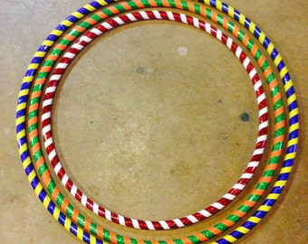 Set of 3 Circus Colored Kids Hula Hoops