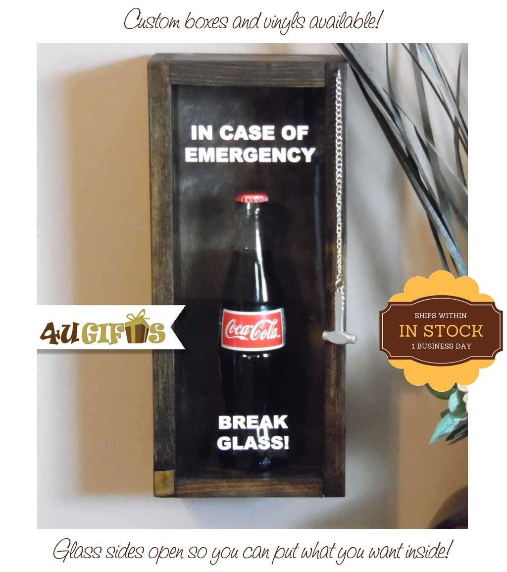 In Case Of Emergency Break Glass Coca Cola Gift By