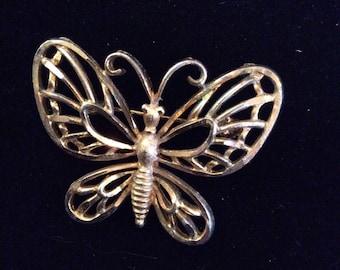 Mamselle butterfly brooch 1-1/2 in