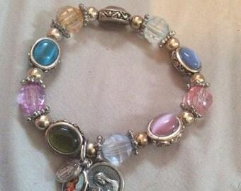 Charm stretch bracelet
