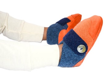 Baby Felted Booties, Toddler Slippers, Wool Baby Shoes, Cashmere Socks, Non-Slip Leather Soles.  Sizes: 0-12M, 6-18M & 12-24M