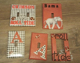 5 Tuscaloosa Crimson Tide switch covers