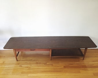 Mid Century Modern Coffee Table - Extra Long