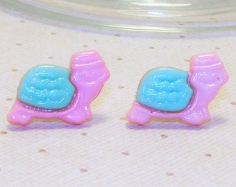 Cute Pastel Turtle Earrings, Turtle Jewelry, Spring/Summer Earrings, Spring/Summer Jewelry,Tortoise/Reptile Earring,Tortoise/Reptile Jewelry