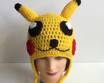 Crochet Handmade Electric Mouse Beanie  Children Kids Adult Teen Boy Girl Men Women