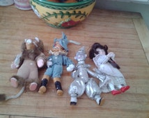 NEW ITEM! Vintage, collectable,set of 4 Wizard of Oz dolls, all porcelain and hand painted