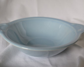 LuRay Pastels Lug Soup Bowl, 1940s, Windsor Blue, Taylor Smith & Taylor